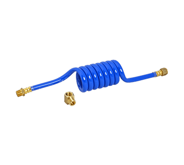 """FMP 117-1462 Swirl Hose Water Supply Line with Street Elbow by Dormont 3/8"""" NPT male and female fittings"""