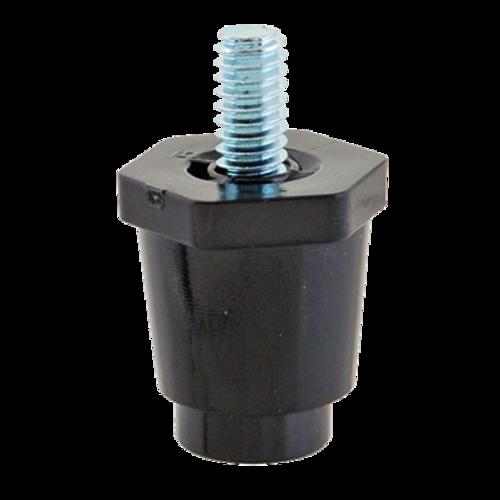 "FMP 119-1009 Black Thermoplastic 1"" Small Leg 1/4-20 mounting stud"