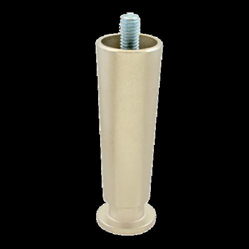 "FMP 119-1081 4"" Zinc Die-Cast with Matte Nickel Finish Leg 3/8-16 mounting stud"