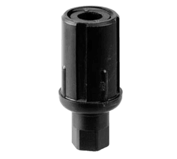 "FMP 119-1103 Black Thermoplastic Bullet Foot For 1-5/8"" OD round tubing"