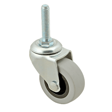 "FMP 120-1002 Standard-Duty 2"" Threaded Stem Caster Gray non-marking wheel"