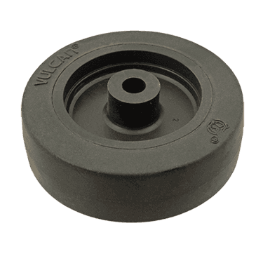 """FMP 120-1023 Standard-Duty 3"""" Caster Wheel with Plain Bearing Black rubber wheel with plastic hub"""