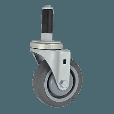 "FMP 120-1044 Standard-Duty 4"" Stem Caster Polyurethane wheel with plastic hub"