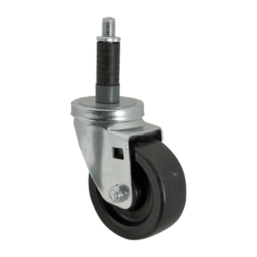 "FMP 120-1045 Standard-Duty 4"" Stem Caster with Brake Polyurethane wheel with plastic hub"