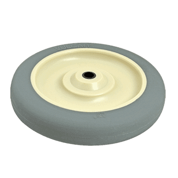 "FMP 120-1116 Standard-Duty 4"" Caster Wheel with Plain Bearing Polyurethane wheel with plastic hub"