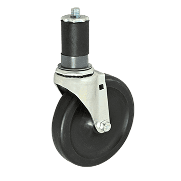 "FMP 120-1130 Standard-Duty 5"" Stem Caster Black polyolefin wheel and hub"