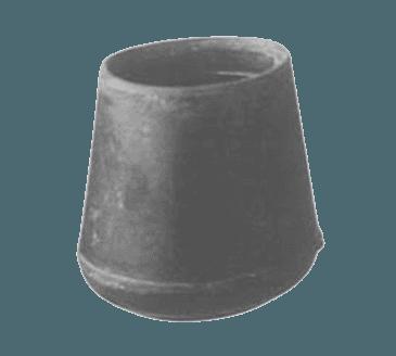 "FMP 121-1139 Black Rubber Crutch Tip For 7/8"" OD tubing"