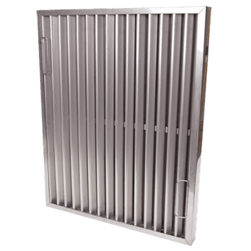 """FMP 129-1186 Flame Gard Type II Heavy-Duty Stainless Steel Baffle Grease Filter 25"""" H x 20"""" W"""
