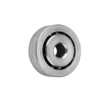 """FMP 132-1008 Zinc-Plated Steel Concave Roller Roller is countersunk for 1/4"""" flat head machine screw"""