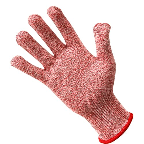 FMP 133-1426 KutGlove Cut Resistant Safety Glove by Tucker Safety Products Small  red wristband
