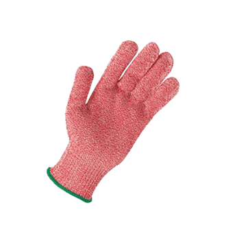 FMP 133-1471 KutGlove Cut Resistant Safety Glove by Tucker Safety Products Medium  green wristband
