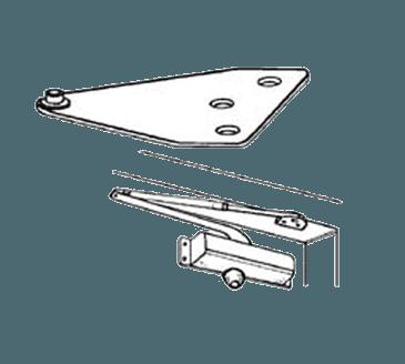 FMP 134-1008 Hydraulic Door Closer Parallel Arm Bracket Aluminum finish