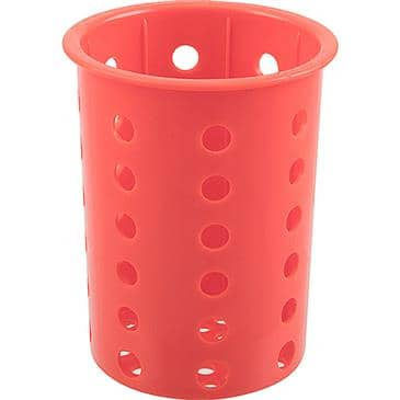 "FMP 137-1663 Flatware Cylinder by Steril-Sil Red  designed to fit a 4"" diameter cutout"