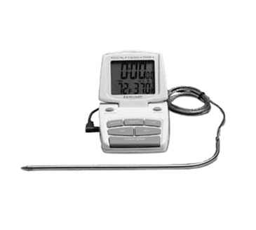 FMP 138-1143 Thermometer/Timer with Alarm 14* to 392*F (-10* to 200*C) - switch from *F to *C at the touch of a button