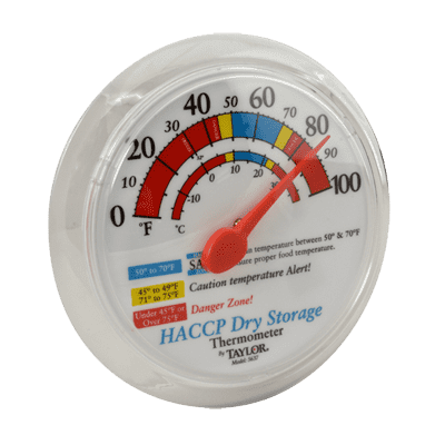 """FMP 138-1310 Taylor® Dry Storage Thermometer,  wall mount,  6""""OD dial"""