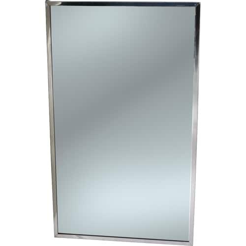 "FMP 141-2179 Framed Mirror 30"" H x 18"" W  stainless steel frame"