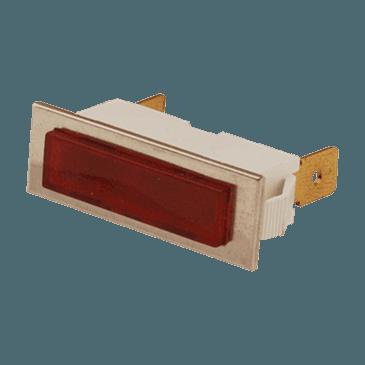 FMP 149-1033 Raised Lens Indicator Light Red lens