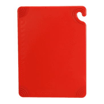 """FMP 150-6042 Saf-T-Grip Cutting Board by San Jamar 15"""" x 20"""" red"""