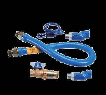 """FMP 157-1131 Blue Hose Gas Connector Kit by Dormont 1"""" NPT x 48"""" L"""
