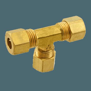 """FMP 158-1043 Brass Tee 1/4"""" OD tubing"""