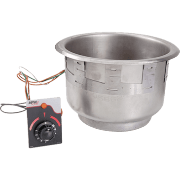 FMP 160-1246 Top Mount Drop-In Food Warmer with Drain by APW Wyott 11 qt inset