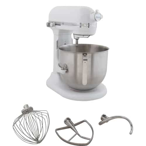 163-1029 8 Qt Mixer with Attachments by KitchenAid 10 speed stainless steel  bowl
