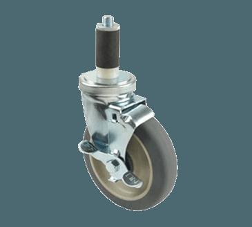 "FMP 197-1137 Medium-Duty 5"" Stem Caster With Brake Polyurethane wheel with plastic hub"