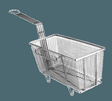 "FMP 225-1006 Fryer Basket with Feet 13-1/4"" L x 5-5/8"" W x 5-3/4"" HRight hook"