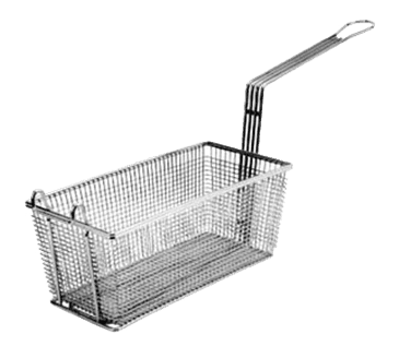 """FMP 225-1031 Standard Fryer Basket 12"""" L x 6-3/8"""" W x 5-3/8"""" H Right and left handles with rear stand-off support"""