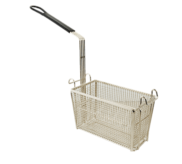 FMP 227-1226 Short Fryer Basket with Vinyl-Coated Handle Includes front and rear hooks