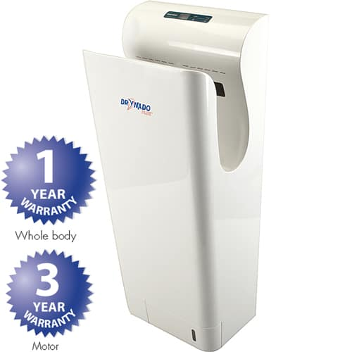 FMP 556-1240 Drynado Plus No-Touch Hand Dryer by Eger Surface mount  dries hands in 10-15 seconds  features HEPA filter and UV light