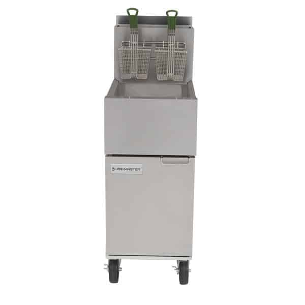 Frymaster ESG35T 35 lb. Stainless Steel and Aluminium Gas Floor Model Full Pot Fryer with Millivolt Controls - 70,000 BTU