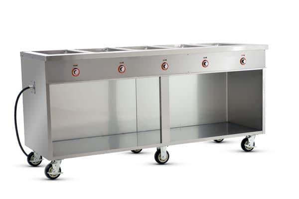 FWE / Food Warming Equipment Co., Inc. FWE / Food Warming Equipment Co., Inc. HLC-5W6-1-DRN Handy Line Serving Cabinet