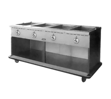 FWE / Food Warming Equipment Co., Inc. FWE / Food Warming Equipment Co., Inc. HLC-4W6-1-DRN Handy Line Serving Cabinet