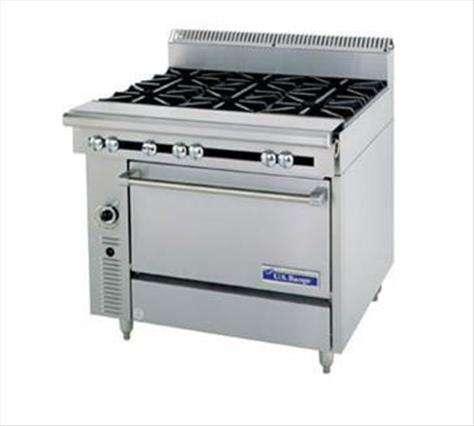 "Garland US Range Garland/US Range C836-13 Commercial Range, 36"" W with 4 Burners (1) 12"" Heat Hot Top and Standard Oven - 185,000 BTU"