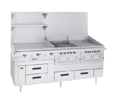 "Garland US Range Garland/US Range GN17C102 Arctic Fire 102"" 6 Drawer Refrigerated Chef Base, Stainless Steel with Marine Edge Top - 115 Volts"
