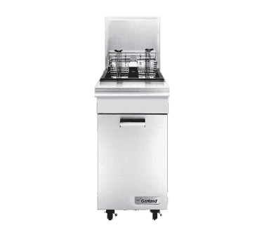 Garland US Range Garland/US Range M35SS Master Series 35 lb. Stainless Steel Gas Floor Model Full Pot Fryer with Thermostatic Controls - 110,000 BTU