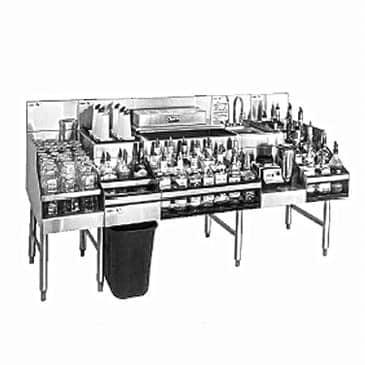 Glastender ALL-72B All-In-One Underbar Ice Bin/Cocktail Station