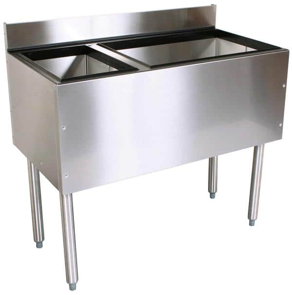Glastender C-CBA-36L CHOICE Underbar Combo Ice Bin/Cocktail Unit