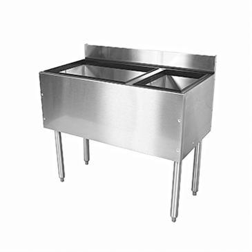 Glastender C-CBA-42R-CP10 CHOICE Underbar Combo Ice Bin/Cocktail Unit