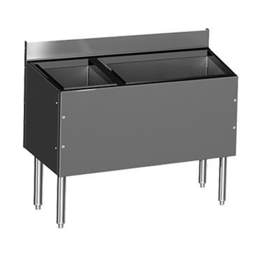 Glastender C-CBA-48L-CP10-ED CHOICE Extra Deep Underbar Combo Ice Bin/Cocktail