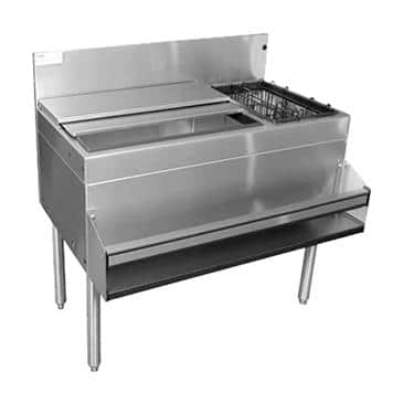 Glastender CBA-36L-CP10-ED Extra Deep Underbar Ice Bin/Cocktail Unit