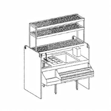 Glastender CS-54X32-CCW Assembly Ice Bin/Cocktail Station