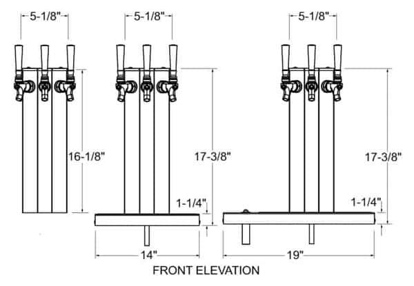 Glastender CT-1-SSR Column Draft Dispensing Tower