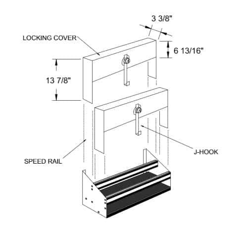 Glastender DSRC-22 Speed Rail Locking Cover