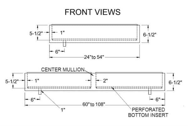 "Glastender IDU-12X60 Ice Display Unit with ABS Breaker Strip - 60""W x 12""D"