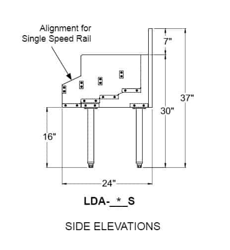 Glastender LDA-30S Underbar Liquor Bottle Display Unit