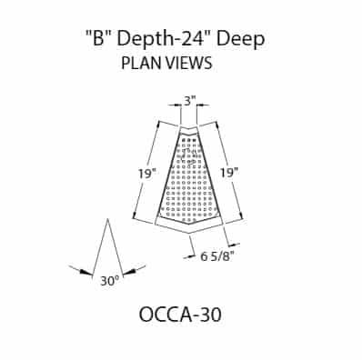 Glastender OCCA-30 Underbar Filler Strip