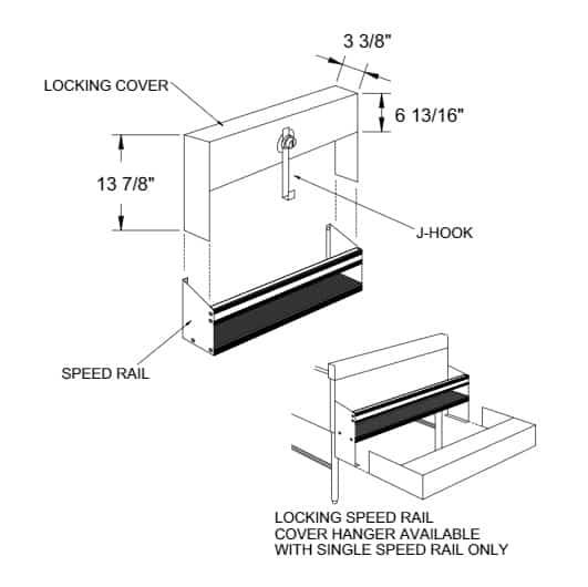 Glastender SSRC-16 Speed Rail Locking Cover
