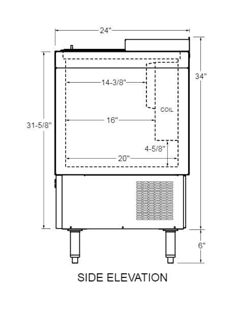 Glastender ST24-B Flat Top Bottle Cooler
